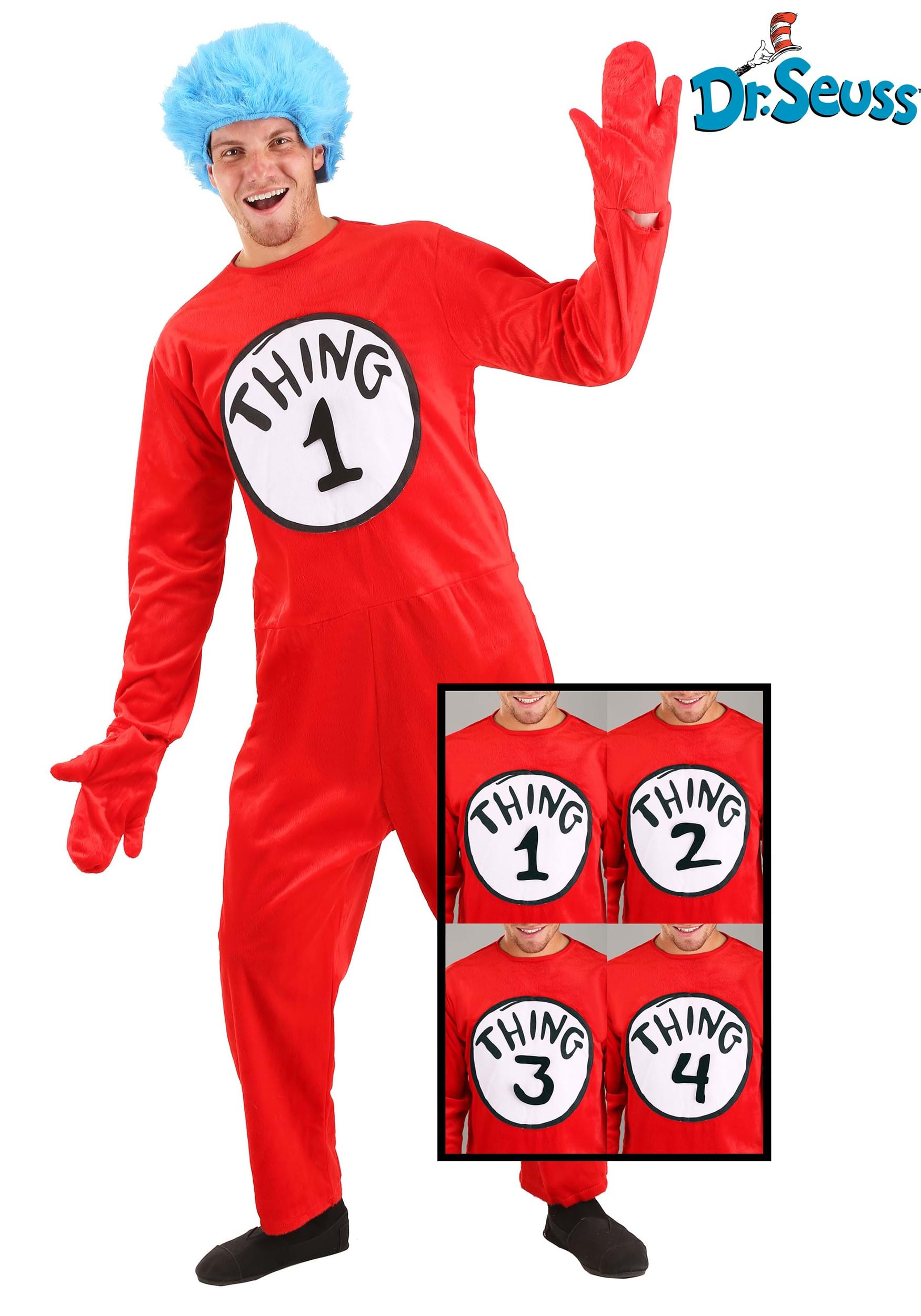 Thing 1 And Thing 2 Images : thing, images, Adult, Seuss, Thing, Deluxe, Costume
