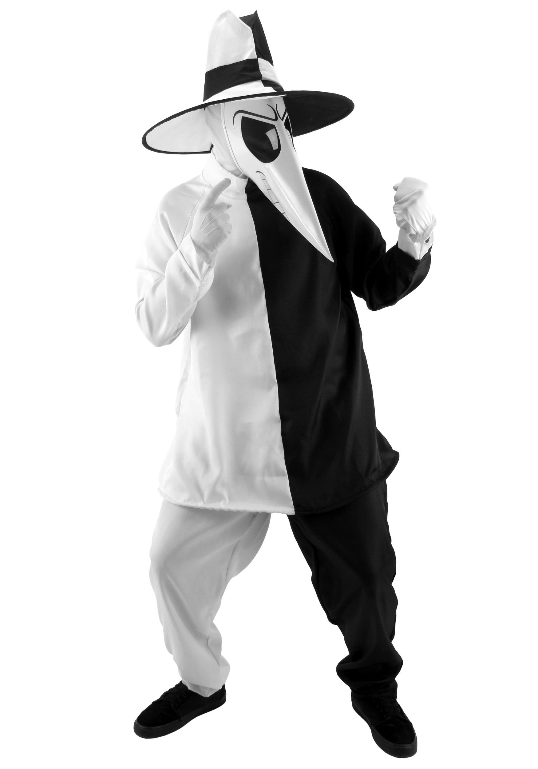 Deluxe Black And White Spy Costume