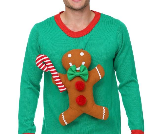 D Gingerbread Man Christmas Sweater