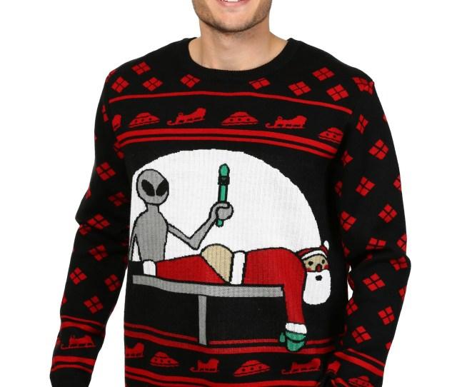 Mens Santa Probe Christmas Sweater