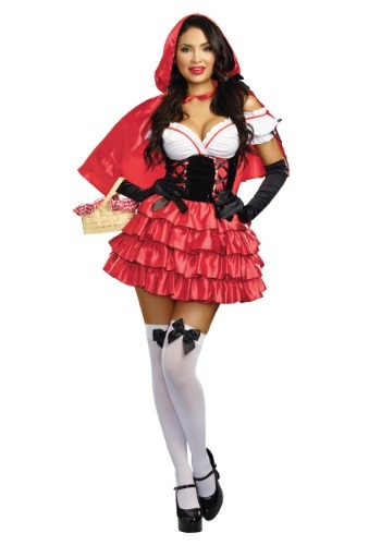 Women's Ruffled Red Riding Hood Costume - $39.99