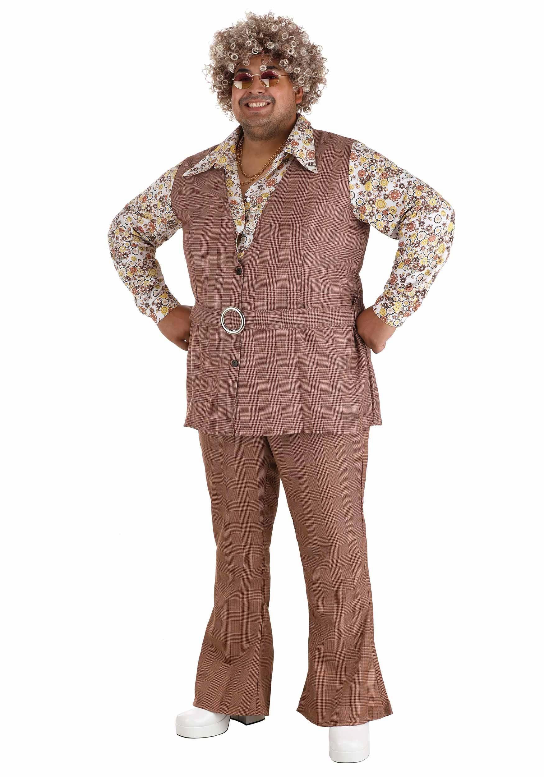 Men's Plus Size 70's Vest Costume