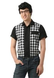 men's 50s bowler shirt