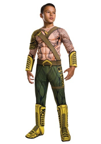Deluxe Child Dawn of Justice Aquaman Costume - $39.99