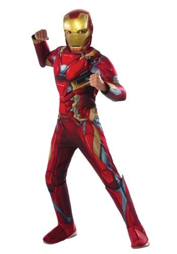 Boys Civil War Iron Man Deluxe Costume - $39.99