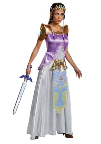 women's legend of zelda costumes - Adult Zelda Deluxe Costume