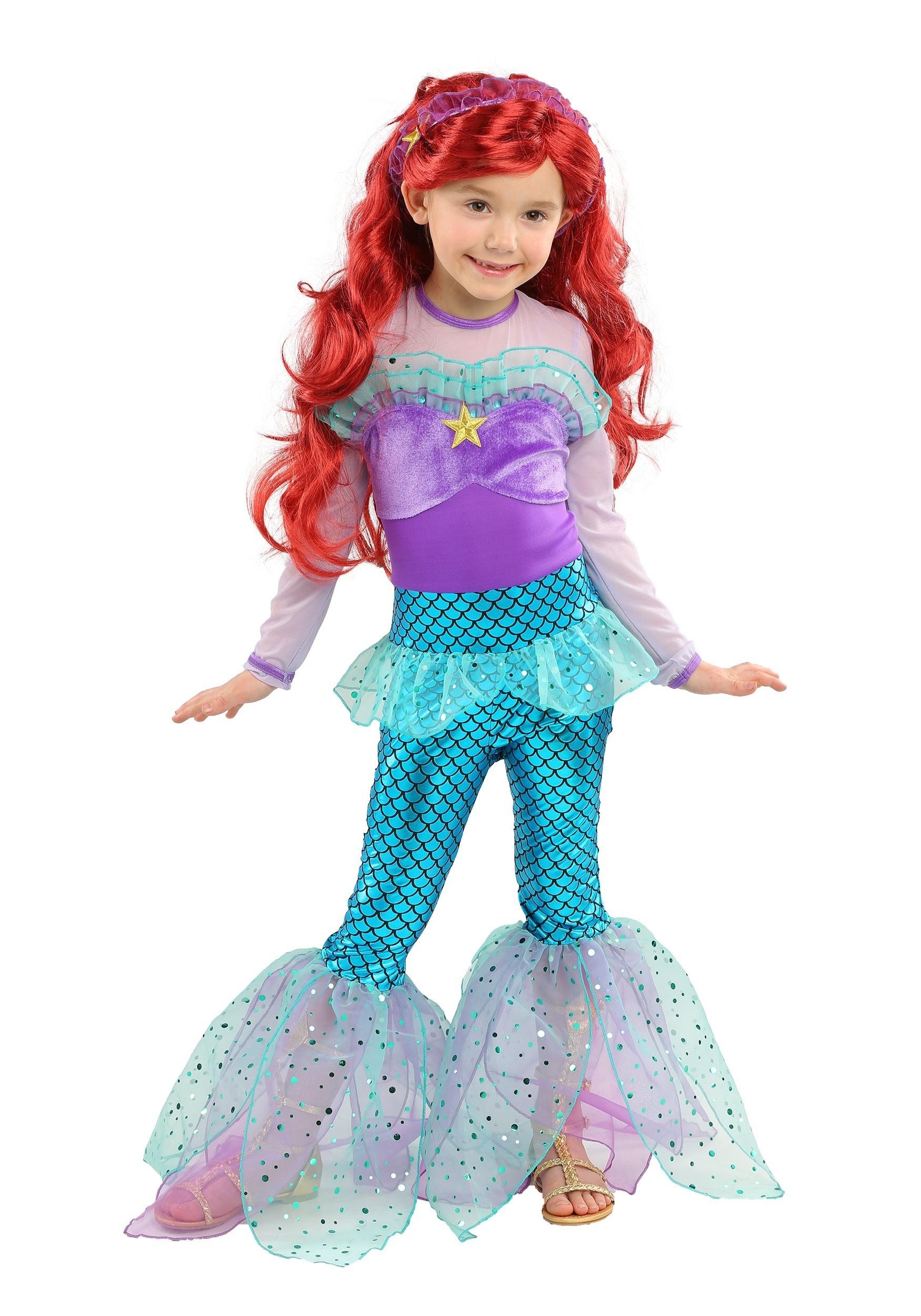 Playful Mermaid Costume For Girls