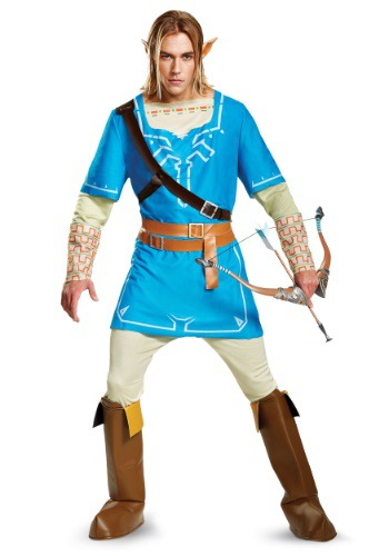 legend of zelda costumes for men - Deluxe Link Breath of the Wild Men's Costume