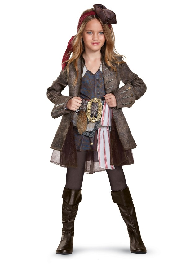 Captain Jack Sparrow Deluxe Costume Girls