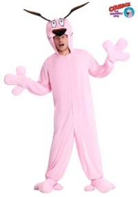 Adult Courage the Cowardly Dog Pajama Costume