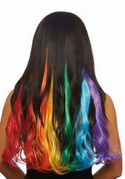3-piece primary rainbow long wavy
