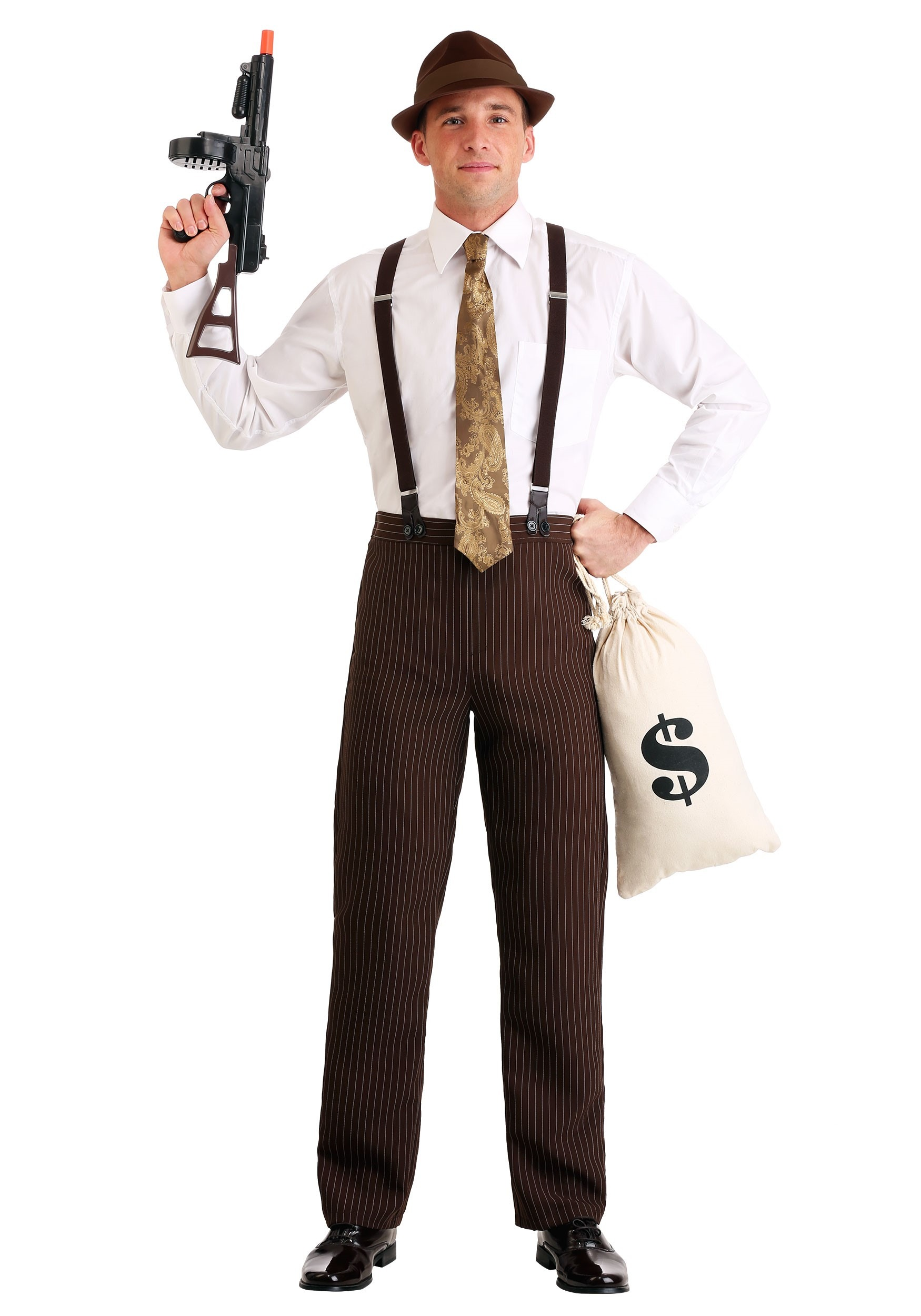 Bonnie And Clyde Costume : bonnie, clyde, costume, Men's, Clyde, Gangster, Costume, Robber, Halloween
