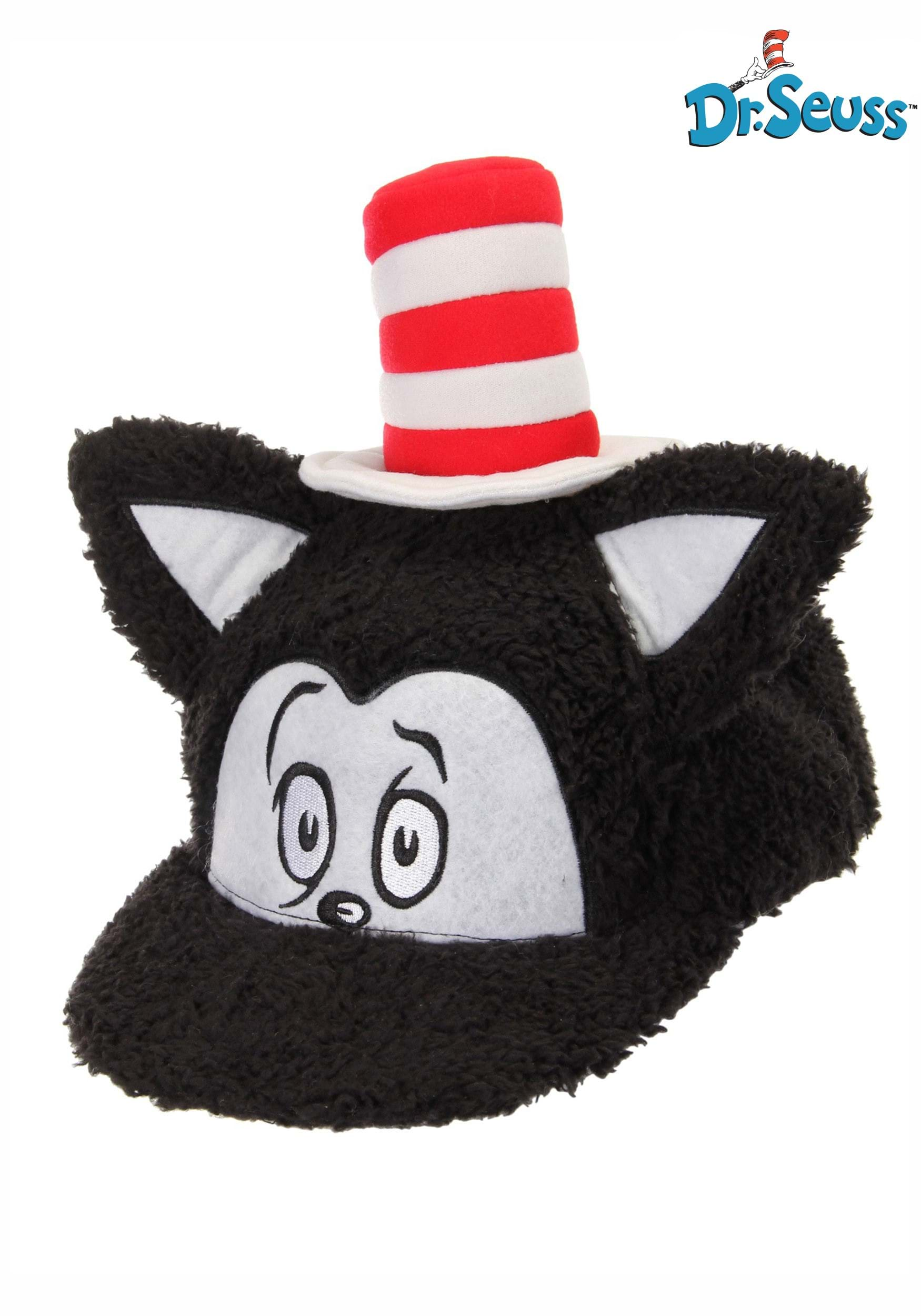 Dr Seuss Cat In The Hat Fuzzy Cap For An Adult