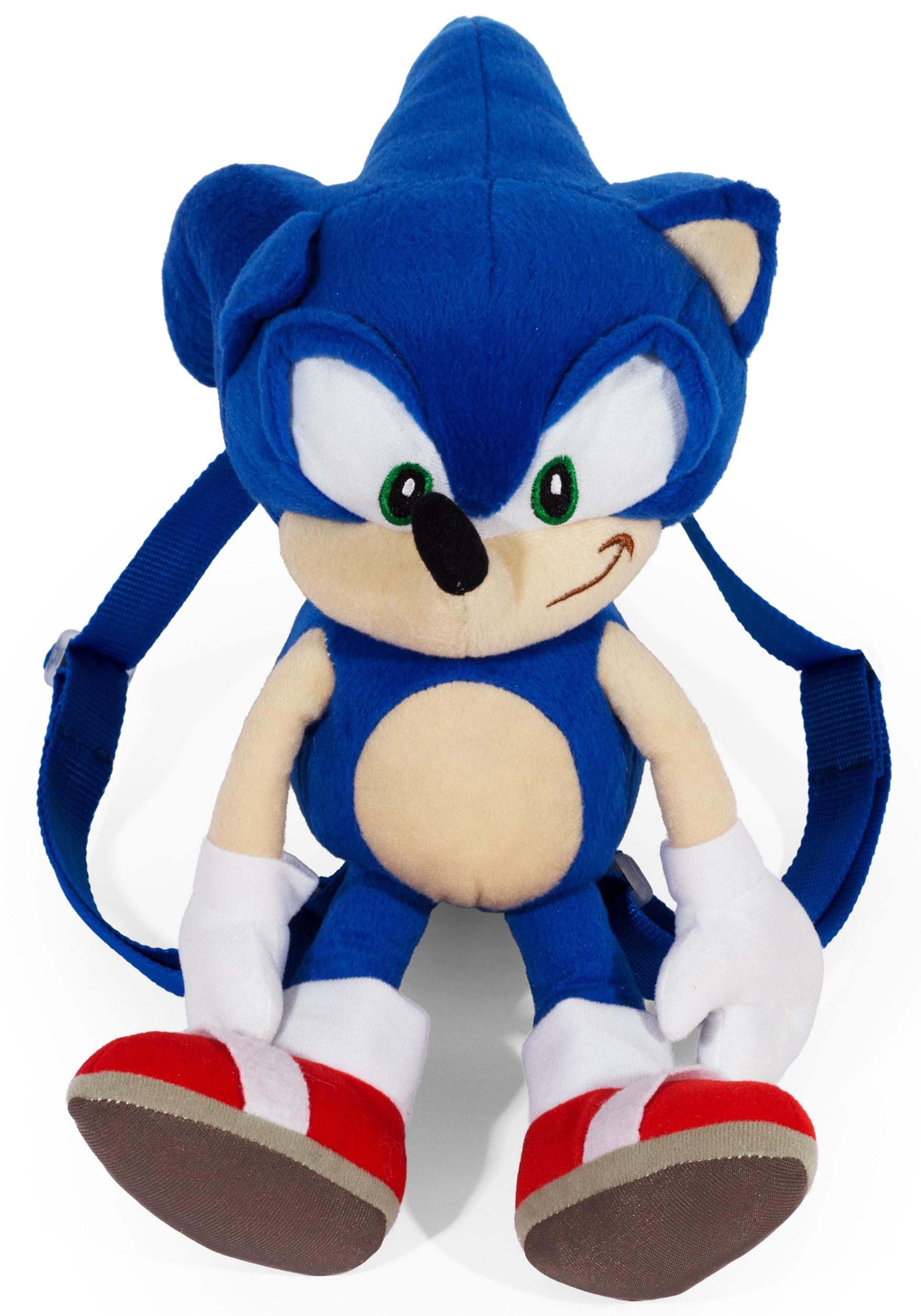 Sonic The Hedgehog Plush 18 Backpack