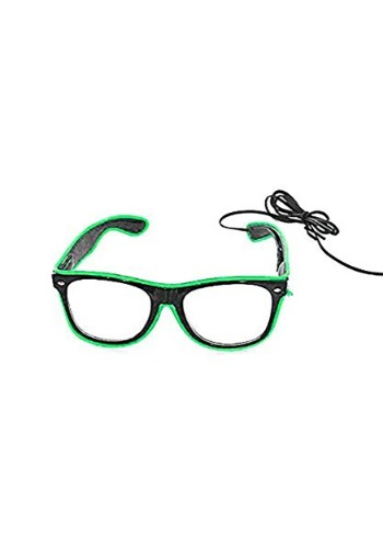 Green with Black Frame EL Wire Glasses