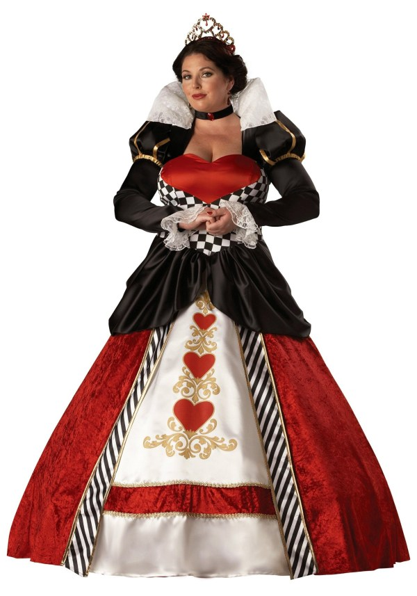 Adult Size Queen Of Hearts Costume 2x 3x