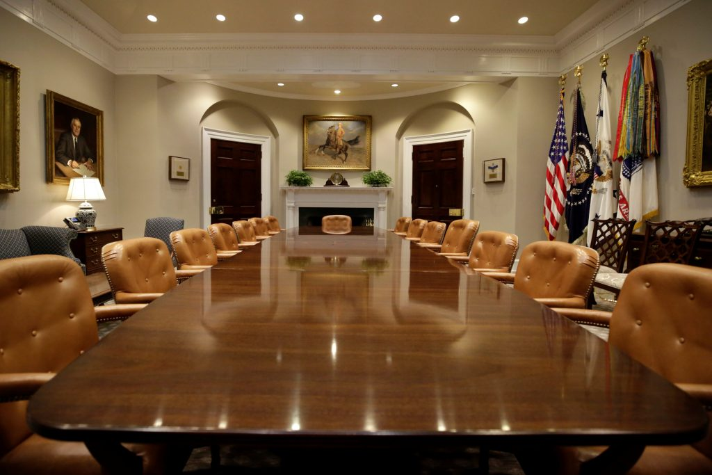White House Unveils Newly Renovated Roosevelt Room