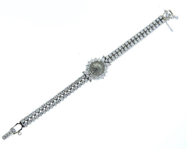 1950s 14k Gold 4.50ctw Diamond Watch