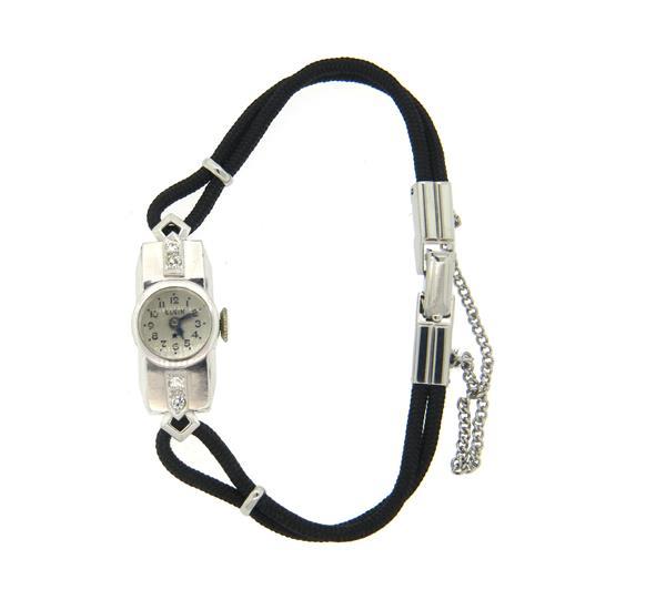 Elgin Platinum Diamond Lady's Watch