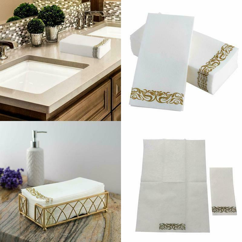 Disposable Hand Towels Decorative Bathroom Napkins Soft White