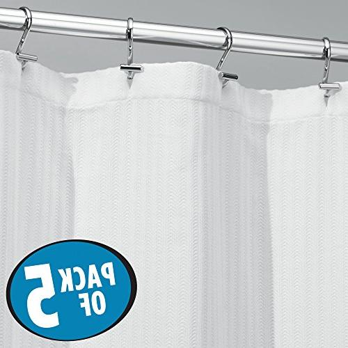 hotel quality polyester cotton blend fabric shower curtain with waffle weave new