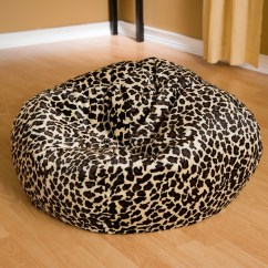 Cheetah Print Bean Bag Chair Compact Folding Camping Fashion Small Faux Suede Animal Ebay