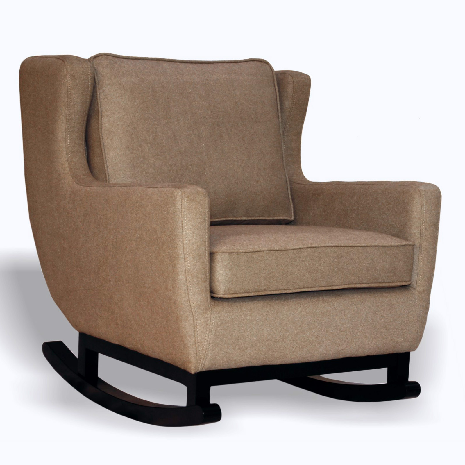 Belham Living Upholstered Rocking Chair  Espresso at