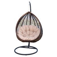 Abbyson Living Carmen Outdoor Wicker Swing Chair with