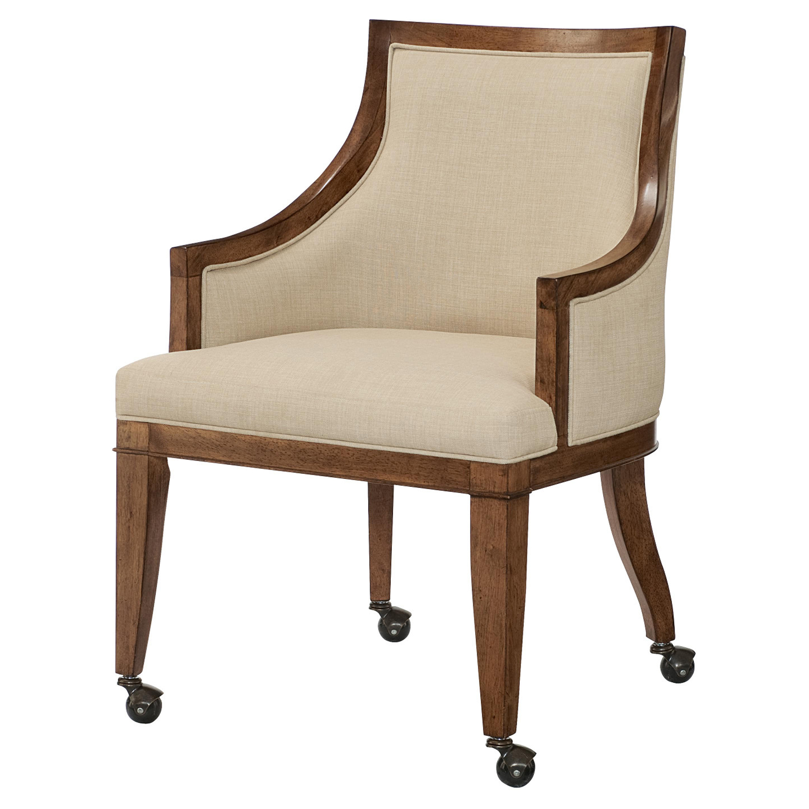 Dining Chairs With Casters American Drew Grove Point Caster Arm Chair Set Of 2