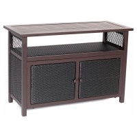 Hanover Wicker Patio Console Table