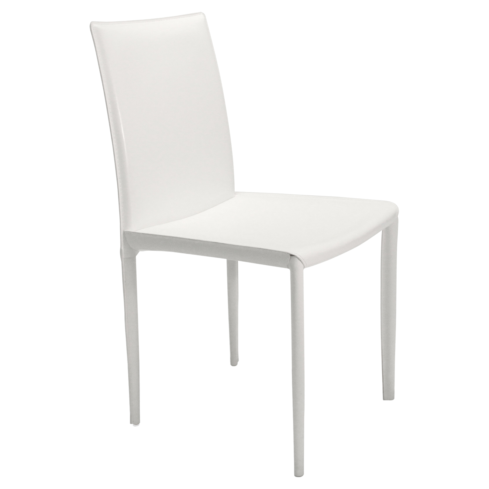white dining chairs set of 4 how to make a chair cover for wedding aeon furniture aimee leather