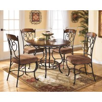 Signature Design by Ashley Nola 5 Piece Round Dining Table