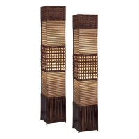Aspire Home Accents Gretchen Rattan Floor Lamp Set at