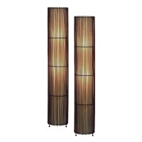 Aspire Home Accents Theo Bamboo Floor Lamp Set at Hayneedle