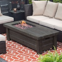Red Ember Driftwood Fire Pit Table