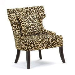 Zebra Print Chairs For Sale Lawn Chair Tent Gaia Leopard Accent At Hayneedle