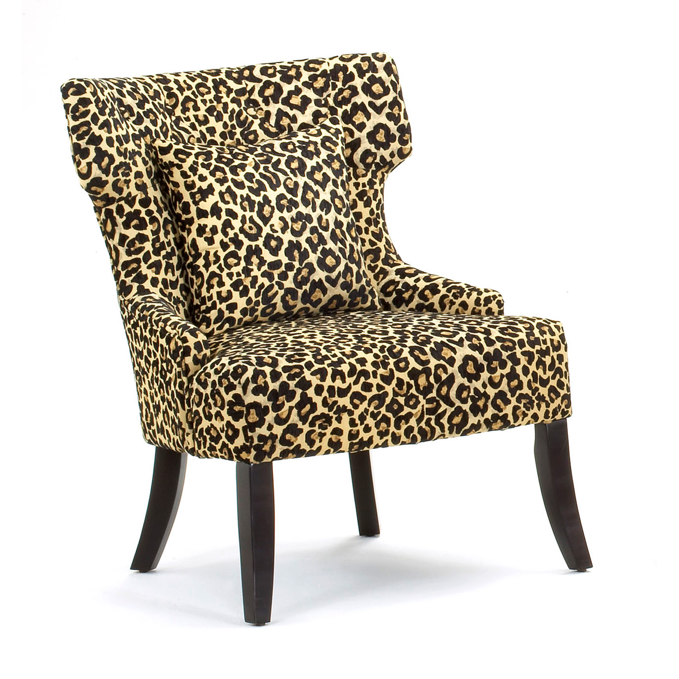 Cheetah Chair Gaia Leopard Print Accent Chair At Hayneedle