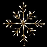 24 in. Outdoor LED Warm White Snowflake Lighted Display ...