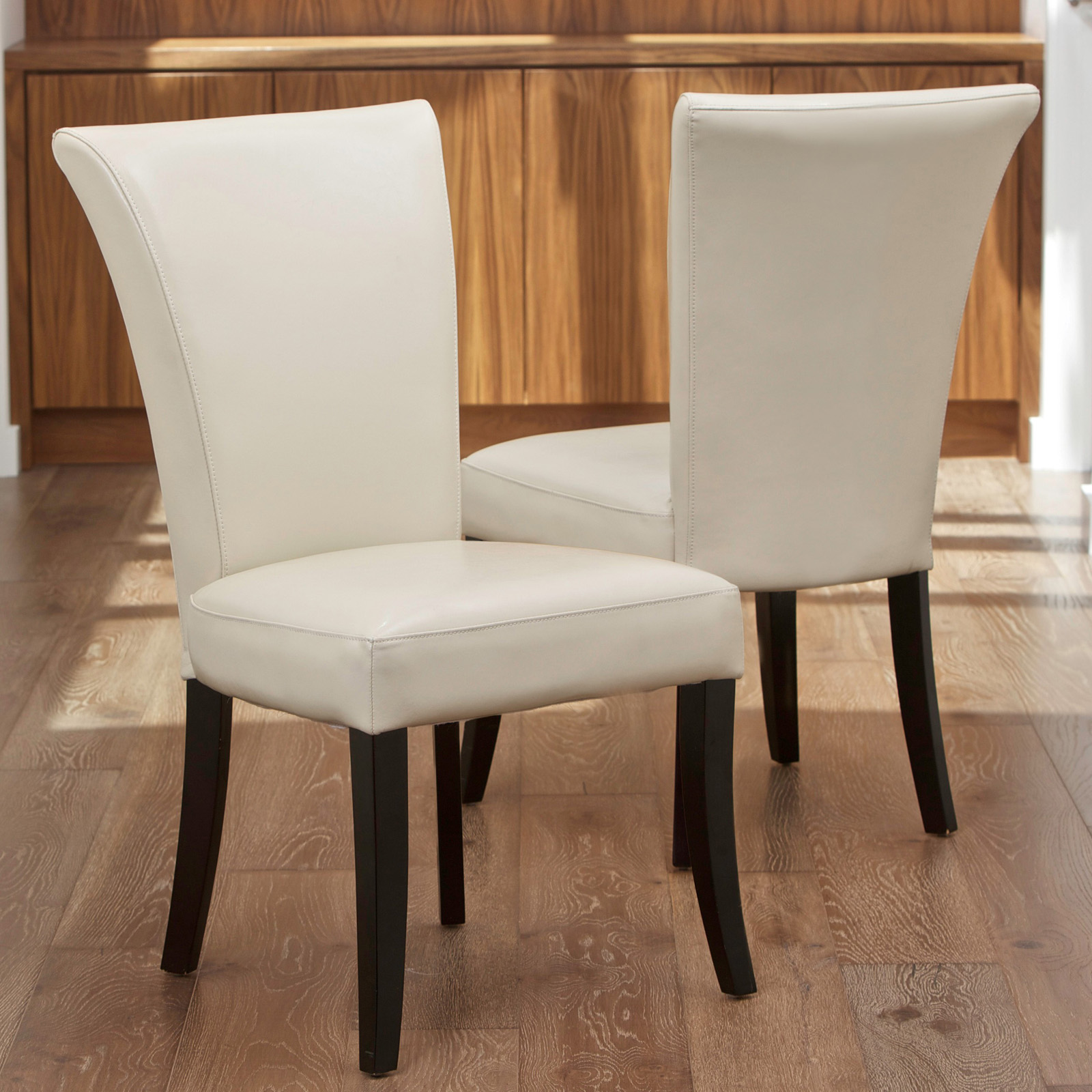 Ivory Dining Chairs Stanford Ivory Leather Dining Chairs 2 Pack Dining