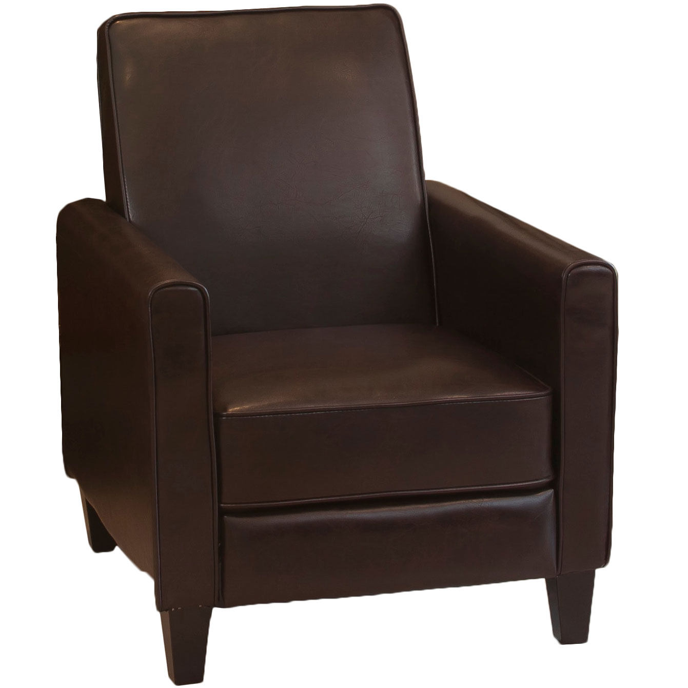 Leather Recliner Club Chair  Accent Chairs at Hayneedle