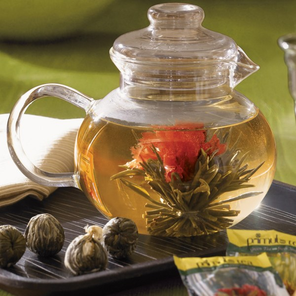 Flowering Tea Pot Gift Set