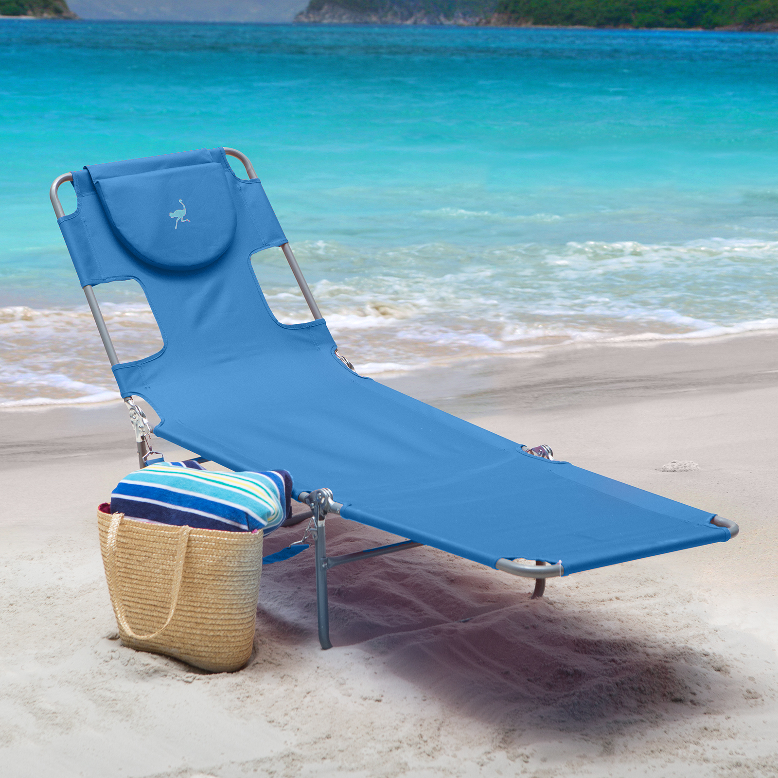 Beach Lounger Chair Ostrich Folding Chaise Lounge Outdoor Chaise Lounges At