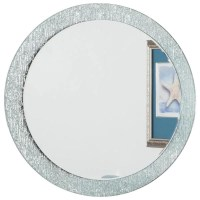 Dcor Wonderland Molten Round Bathroom Wall Mirror