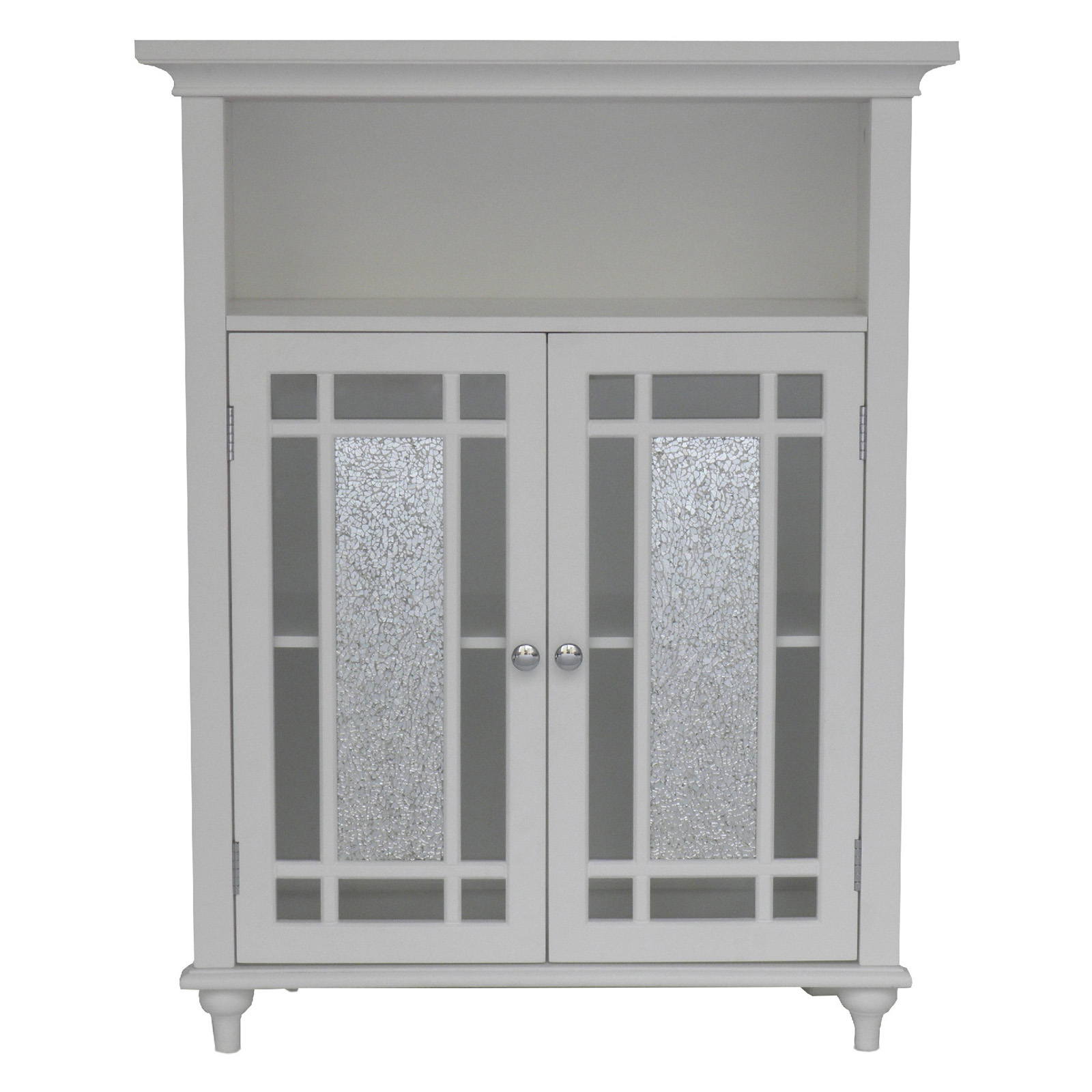 Elegant Home Windsor White Bathroom Double Door Floor