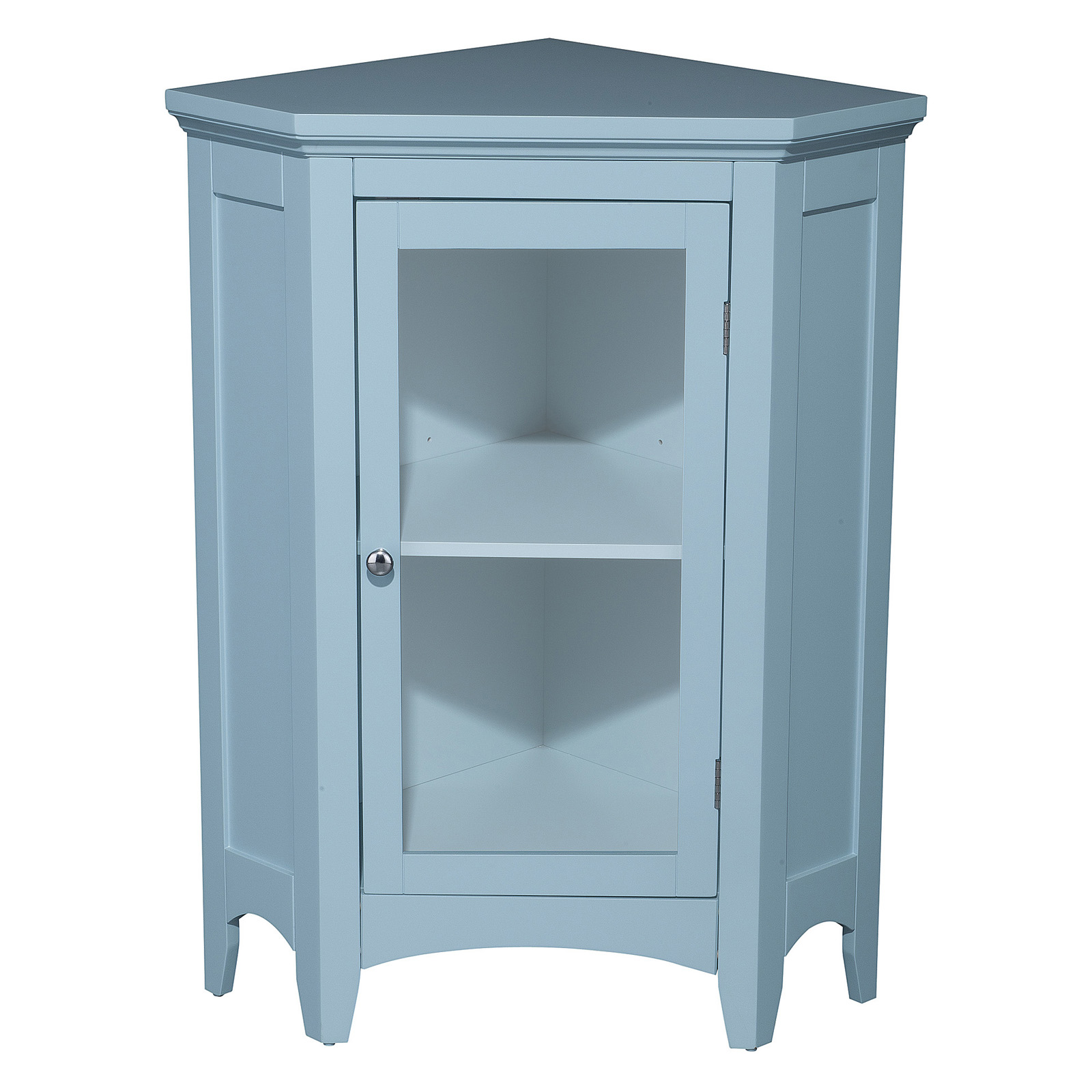 Elegant Home Hampton 1 Door Corner Floor Cabinet at Hayneedle