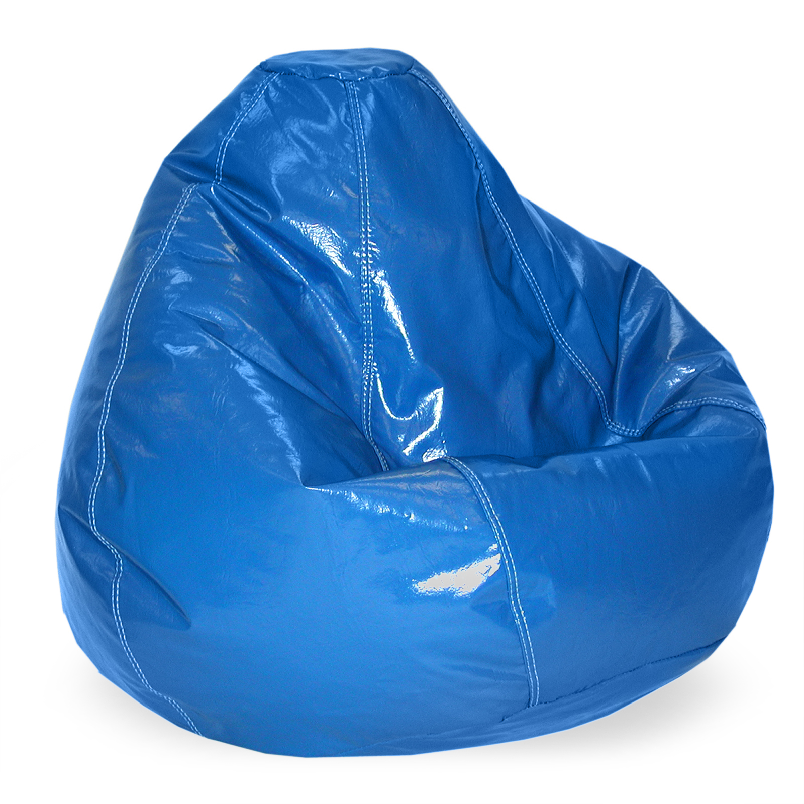 blue bean bag chairs mini high chair kids classic bags and pillow loungers
