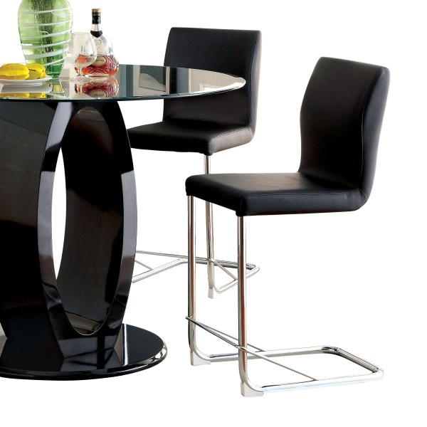 Black Contemporary Counter Height Chairs