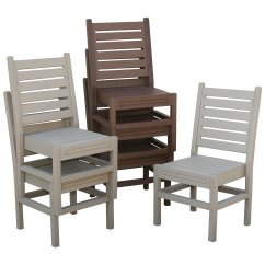 Outdoor Dining Chairs Stackable Sash For Eagle One Recycled Plastic Chair