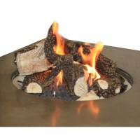 Outdoor GreatRoom Ceramic Log Set with Lava Rocks