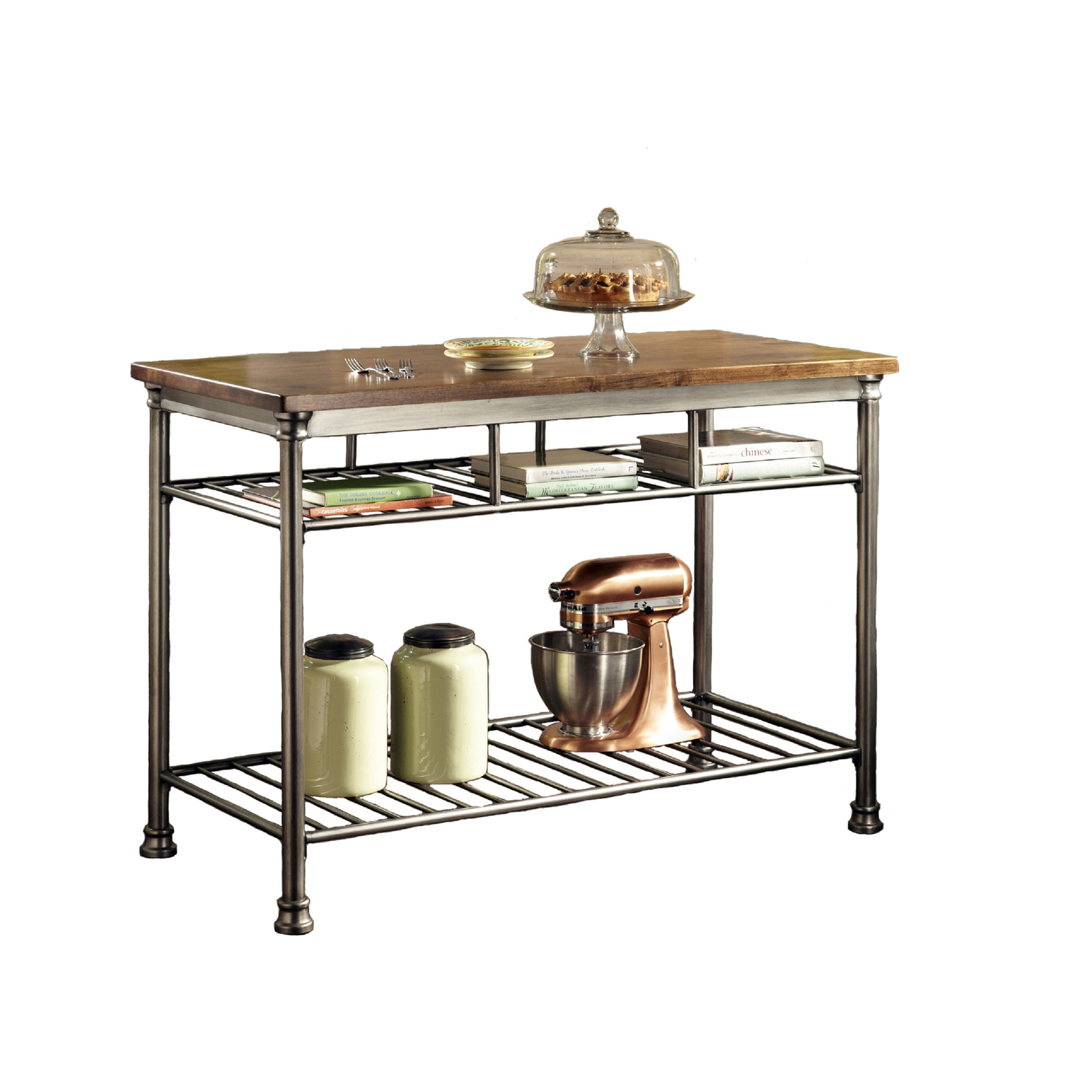 butcher block kitchen island cart ovens home styles orleans wire rack with caramel